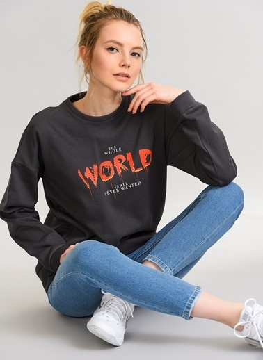Baskılı Sweatshirt-Agenda
